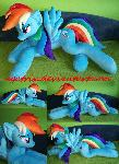 Life size (laying down) Rainbow Dash plush