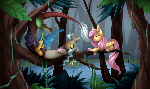 Fluttershy and Discord + Speedpaint