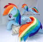 Lifesize 50 inch Cuddle size Rainbow dash