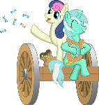 Lyra and Bonbon wagon