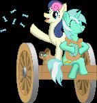 Lyra and Bonbon wagon