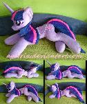 Life size (laying down) Twilight Sparkle plush
