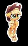 Chibi AppleJack sticker