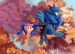 Flying Forest Luna and Scootaloo