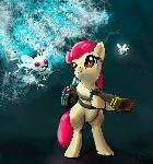 Applebloom And Electric Twittermites