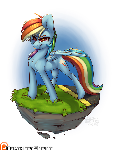 Island Pony - Rainbow Dash