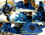 Luna's Hearth's Warming Tail Cloak Commission