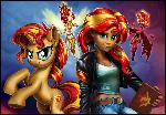 Sunset Shimmer Four Ways