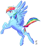 Just A Flying Rainbow Horse