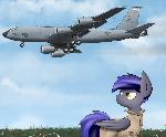 Tanker aircraft inbound