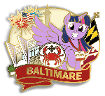 Preview Baltimare Pin - BronyCon Booth 312