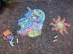Chalk Princess Celestia