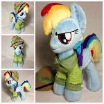 Plushie Rainbow Dash cosplay Daring Doo