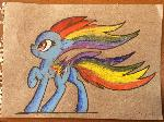 Rainbow Power version Rainbow Dash, pencil