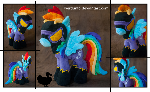 Shadowbolt Rainbow Dash Plushie