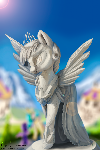 Twilight sparkle- Statue in canterlot