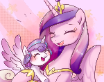 Cadance with Flurry Heart
