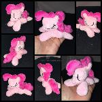 4.5in mini sleeping Pinkie plushie ::Commission::
