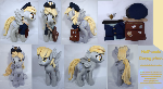 Half-scale Derpy plush v2