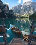 Lac de Braies à Bolzano, Italie