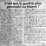 Canard enchainé : C'est qui, le parti le plus poursuivi en France ?