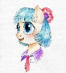 Coco Pommel watercolor