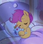 Scootaloo and plush RD