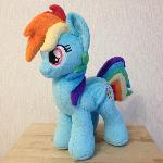 Plushie Rainbow Dash for DerpFest 2017