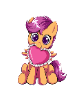 Scootaloo Heart Sticker