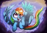 A rainbow fall