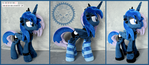 + Plush Commission: Goth Princess Luna +