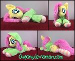 34in laying Fluttershy with hoodie