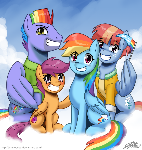 Rainbow Dash's Family