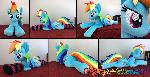 Lifesize 45 inch Rainbow Dash plush