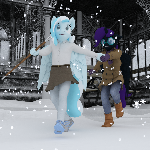 COMM: It's snowing!