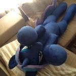 Life-size plush Princess Luna