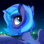 Walking below the moonlight