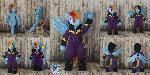 Posable anthro Shadowbolt Rainbow Dash