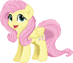 Fluttershy Sketch Vector