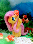Fluttershy with a rose