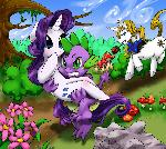 Spike and Rarity's Quick Get Away