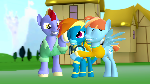 Mother and Father are so proud of Rainbow Dash