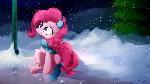 Pinkie Pie Blep: Expert Snowflake Catcher [Comm]