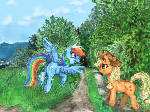 Rainbow dash and Apple Jack