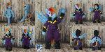 Posable anthro Shadowbolt Rainbow Dash for sale