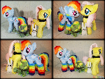 Rainbow Dash and Tank Fluttershy and Angel