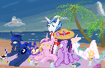 royal on the beach in Ms-Paint