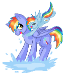 Rainbow Dash and Daddy Dash