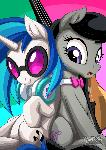 Vinyl Scratch and Octavia