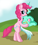 Pinkie Pie with Lyra